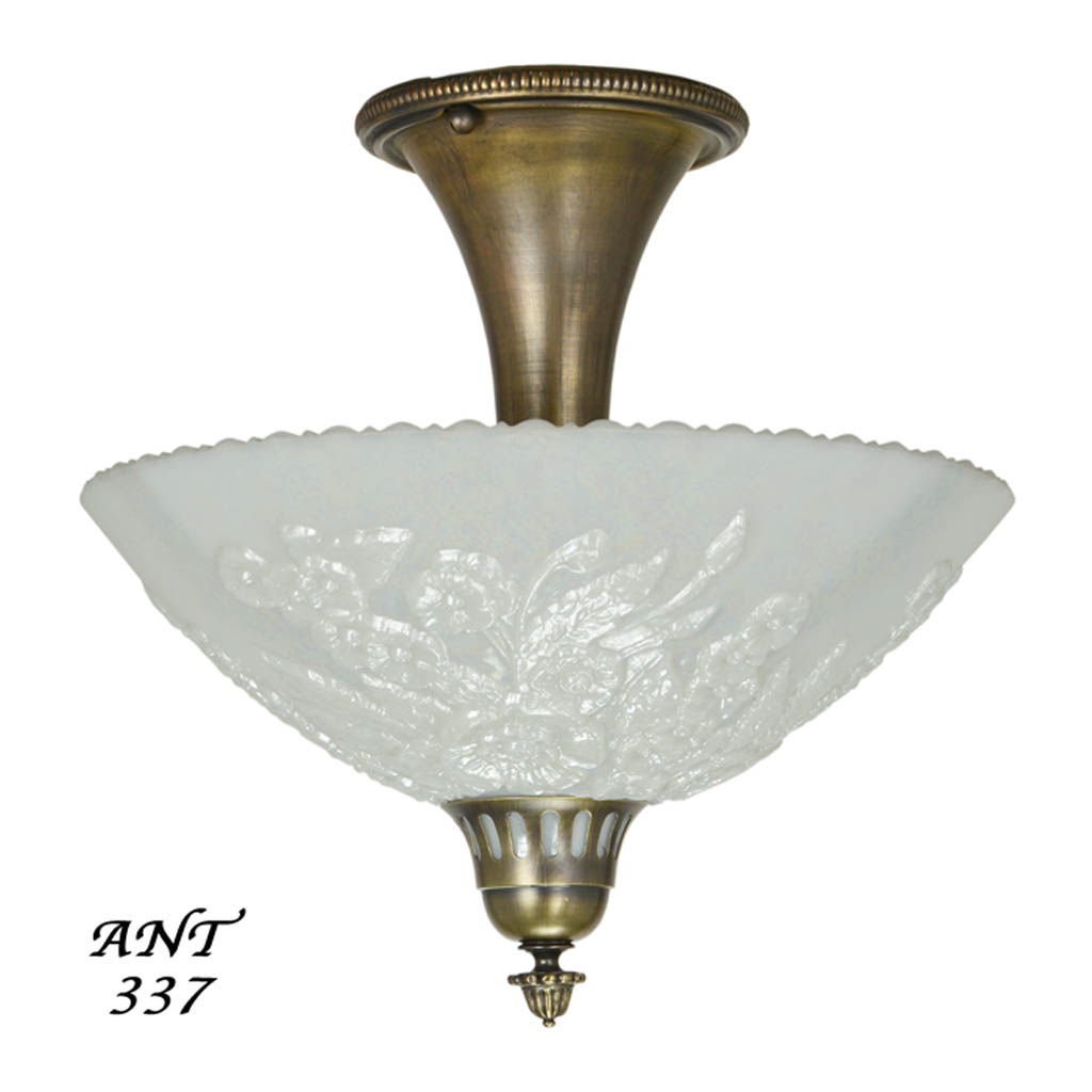 Vintage Flush Mount Ceiling Light Fixtures Sold Antique