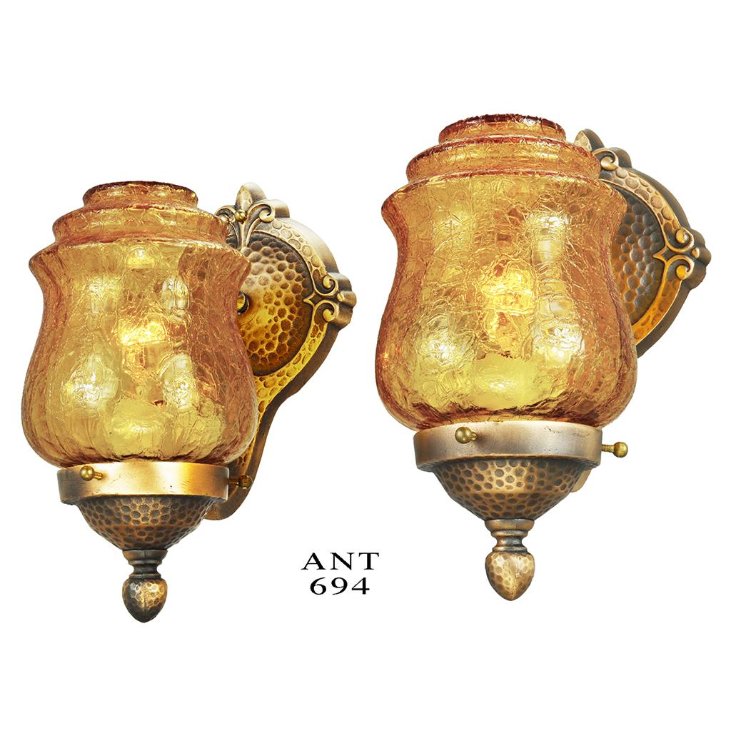Antiques.com Classifieds Antiques ? Antique Lamps and Lighting ? Antique Sconces For Sale ...
