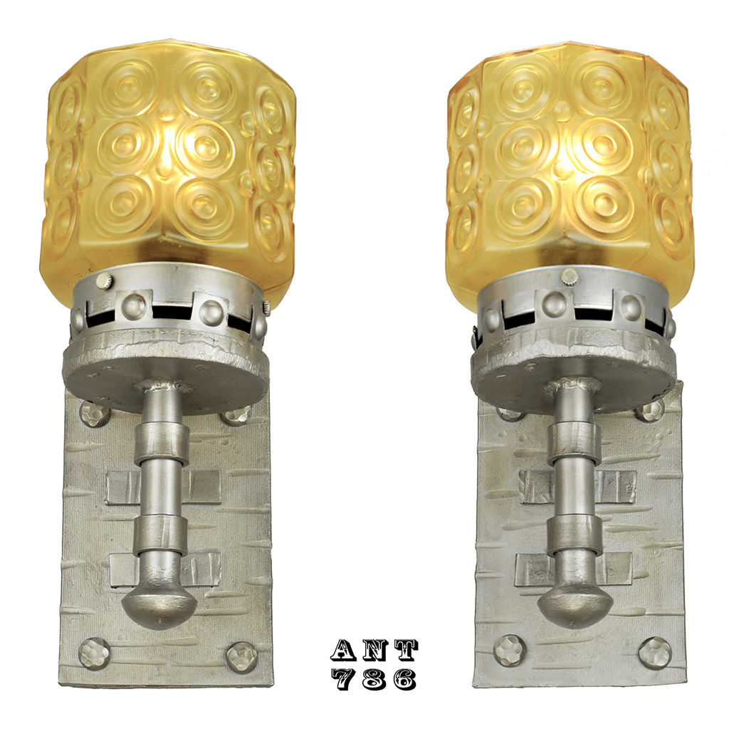 Gothic Style Lights Antique Wall Sconces Circa 1920s Pair