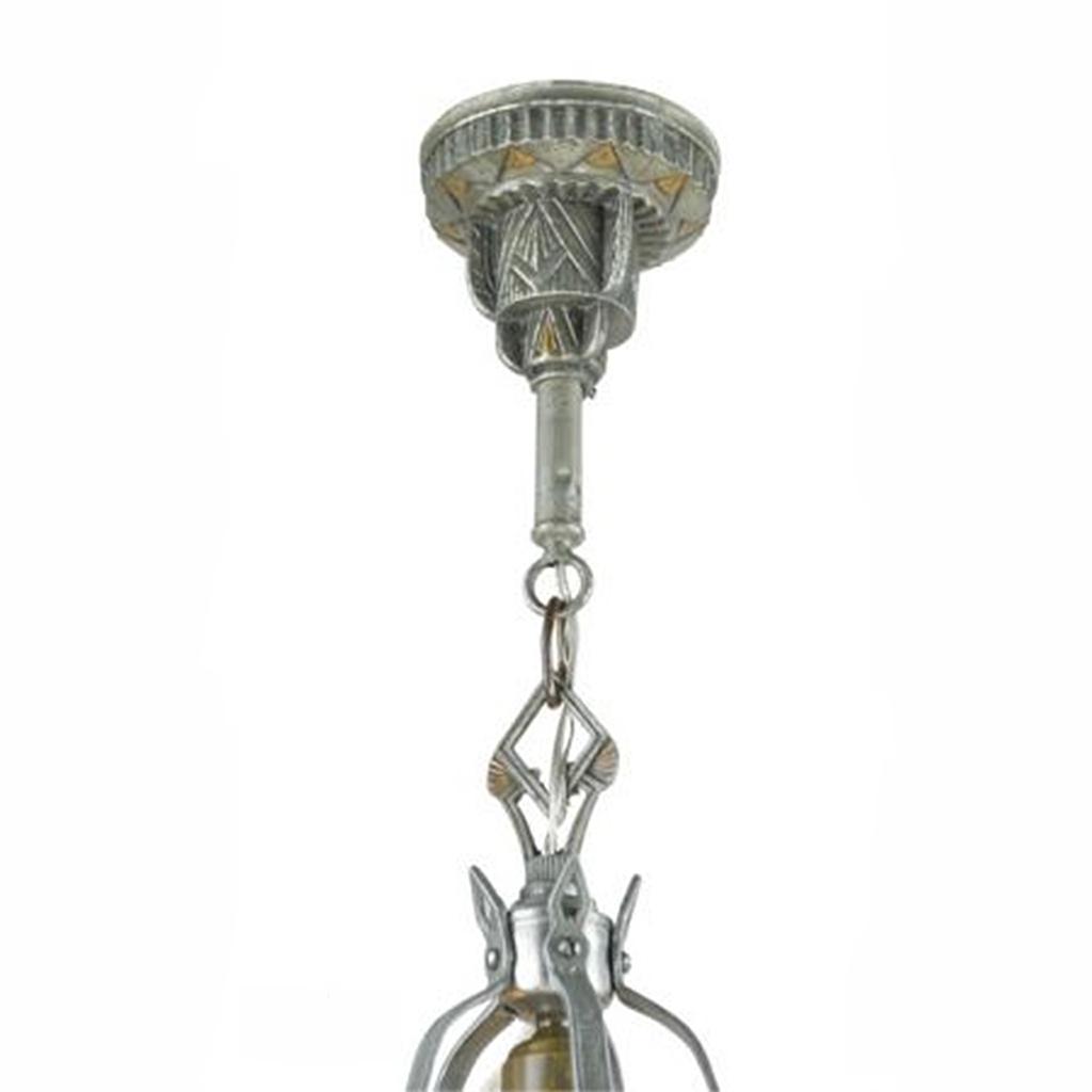 Antique art deco slip shade chandelier circa 1935 ceiling light by antique art deco slip shade chandelier circa 1935 ceiling light by isco ant 442 for sale arubaitofo Image collections