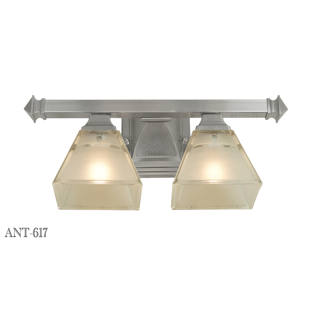 Mission Craftsman or Arts & Crafts 2 Light Wall Sconce Brushed Nickel (ANT-617) For Sale ...