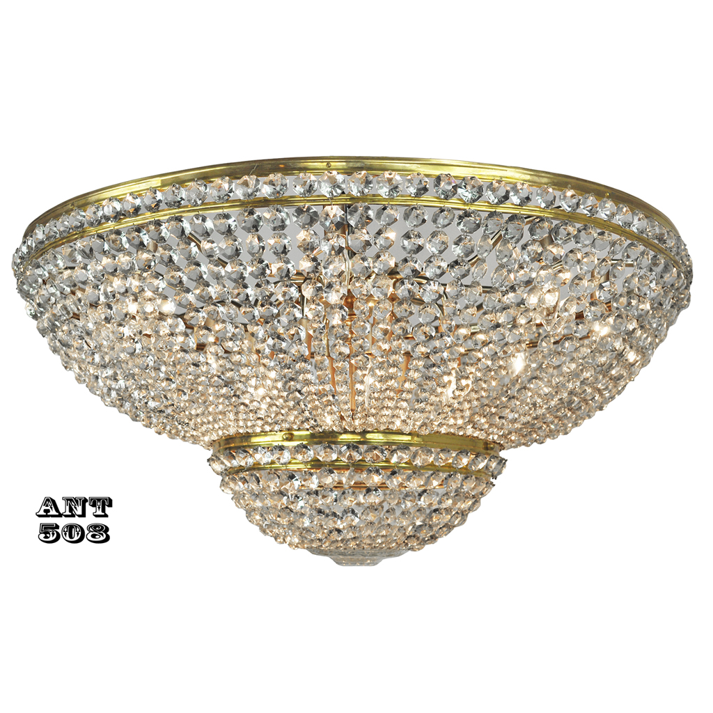 Large And Excellent Crystal Bead Ceiling Light Dome
