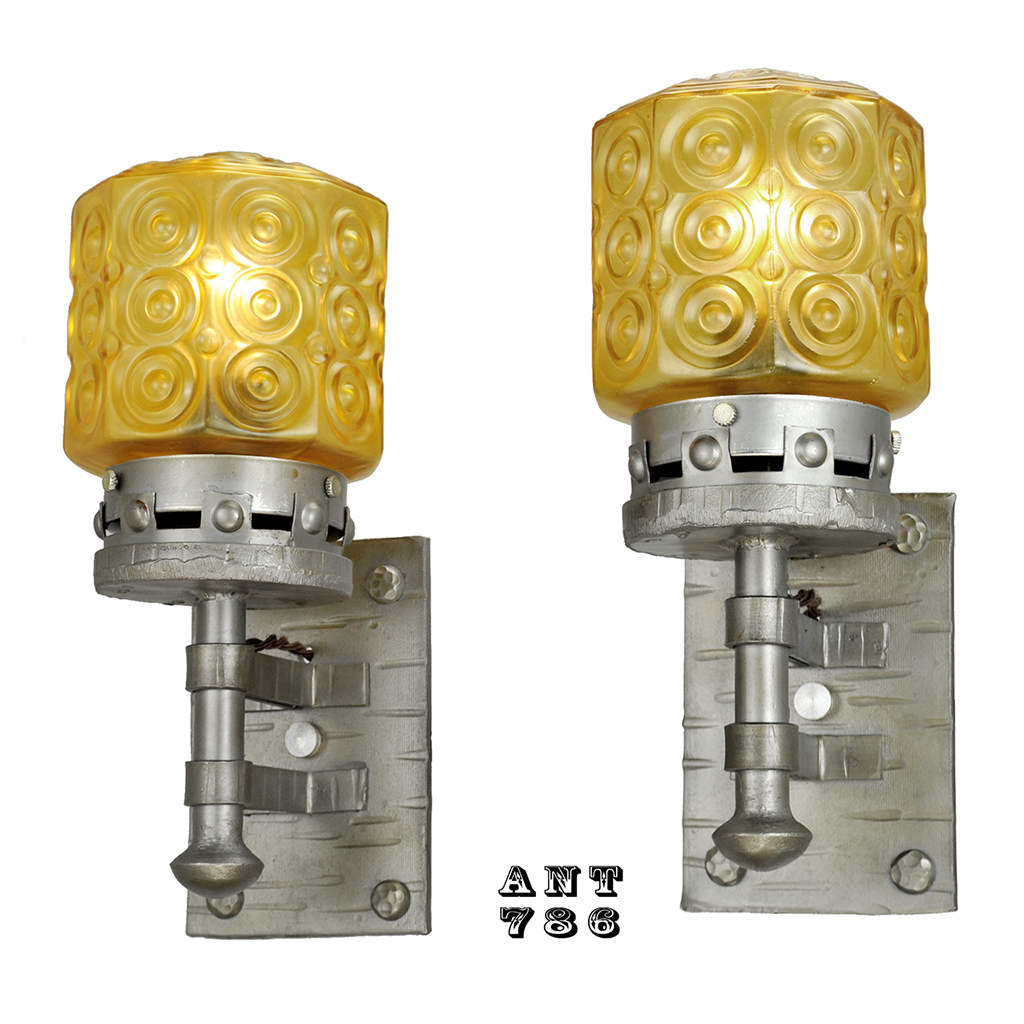 Gothic Style Lights Antique Wall Sconces Circa 1920s Pair of Fixtures (ANT-786) For Sale ...