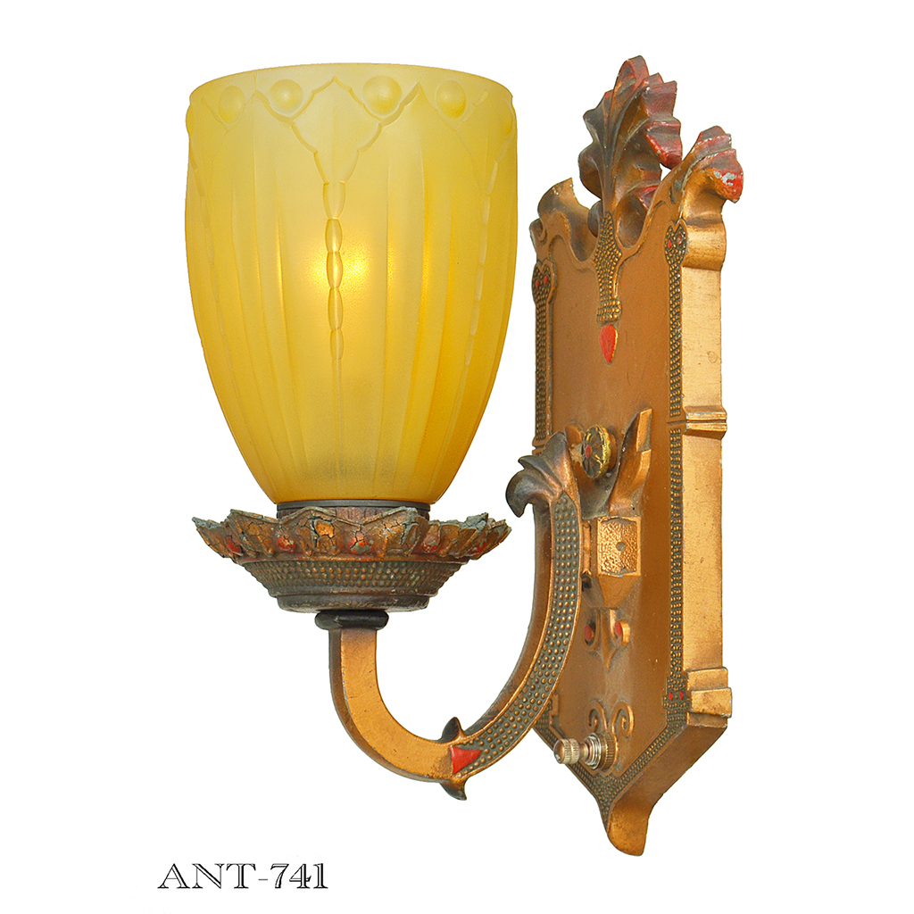 Edwardian Style Pair of Antique Wall Sconces Circa 1910 - 1920 Lights (ANT-741) For Sale ...