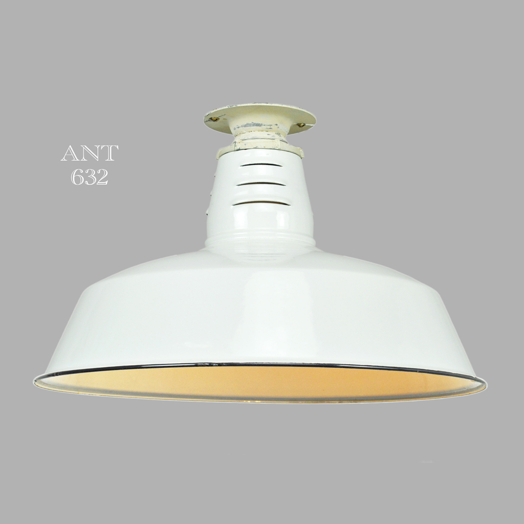 Vintage industrial barn lights semi flush mount close Semi flush mount ceiling lights