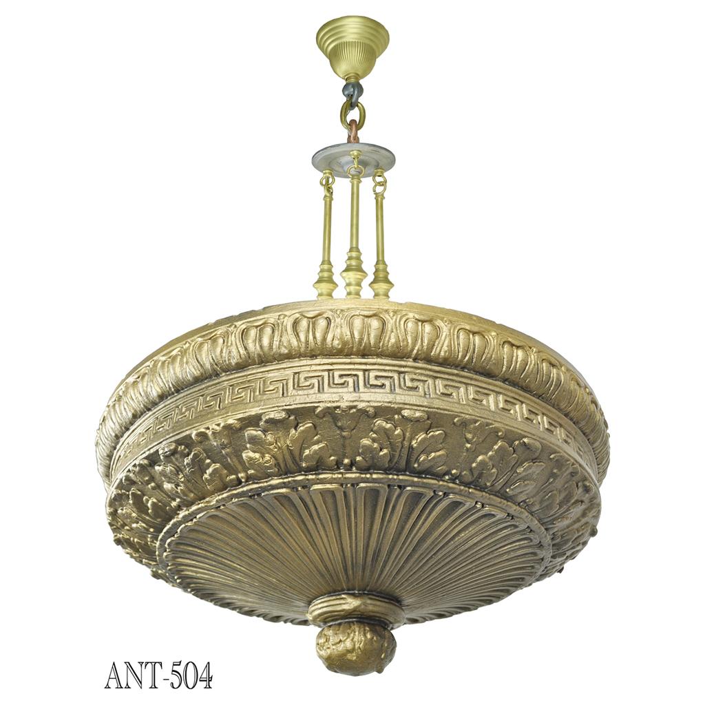Antique Original Edwardian Cast Plaster Ceiling Bowl ...