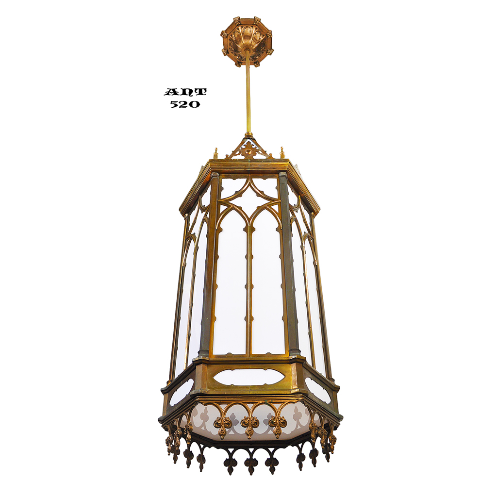 Gothic Victorian Style Large Antique Pendants Ceiling