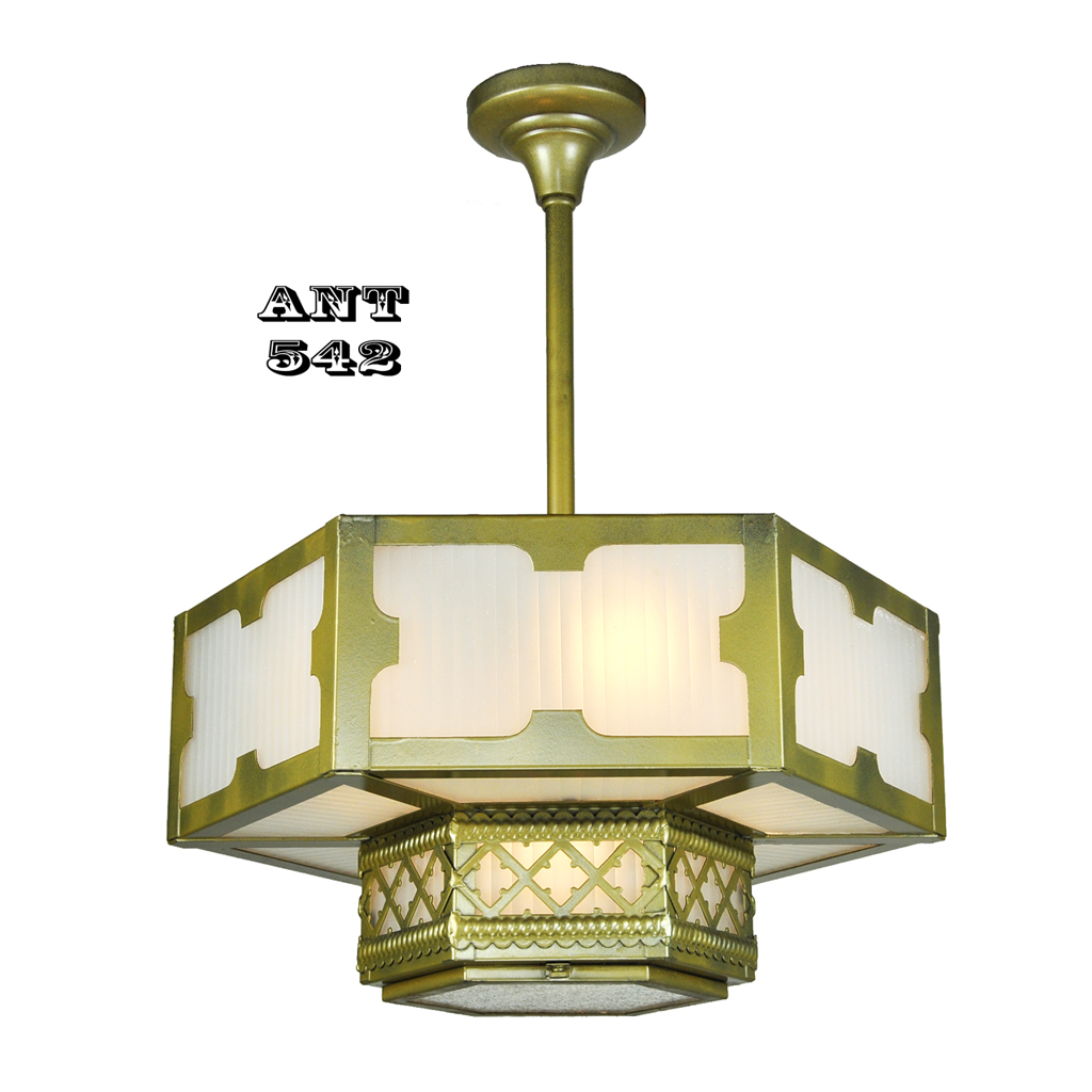 Arts and crafts gothic style hexagonal ceiling panel light ant 542 gothic or arts and crafts style panel ceiling light hexagonal older gothic lighting fixture arubaitofo Gallery