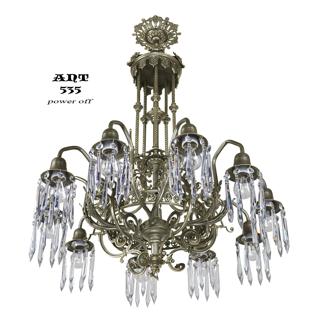 antique crystal chandelier gothic style 10 arm ceiling