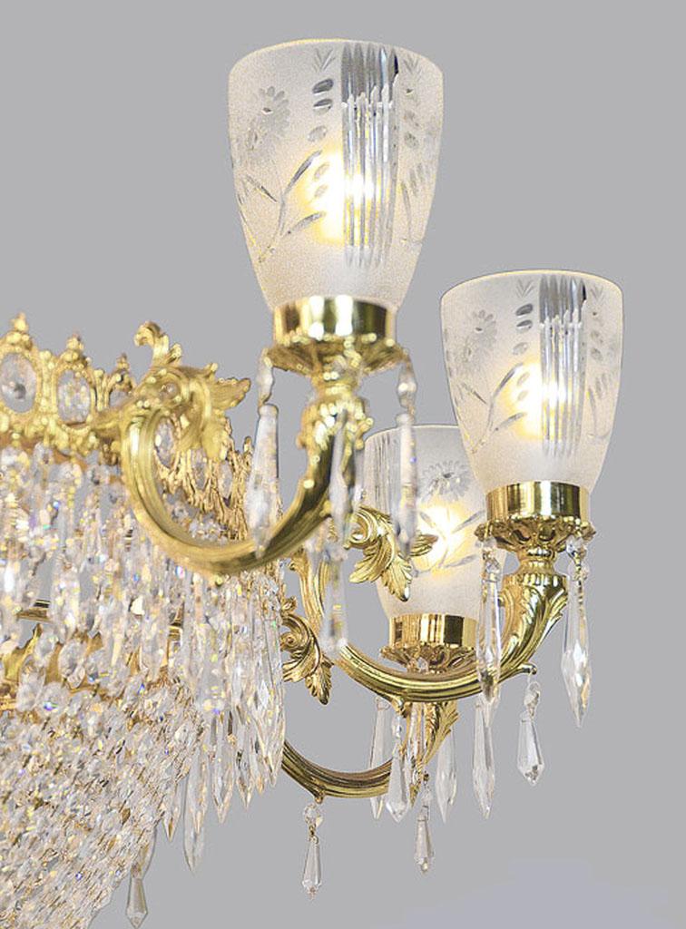Magnificent Vintage Ballroom Crystal Chandelier ANT