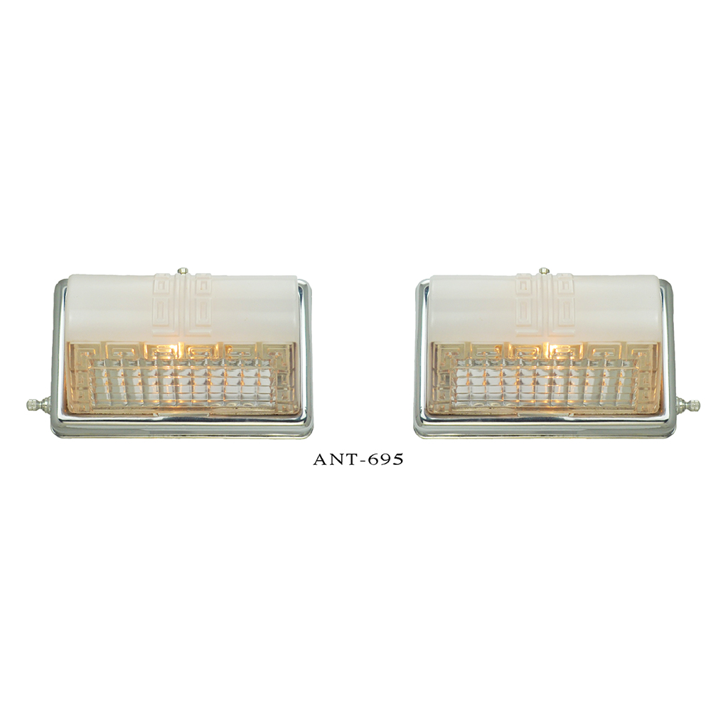 Midcentury modern wall sconces pair bathroom kitchen for Mid century modern kitchen lighting