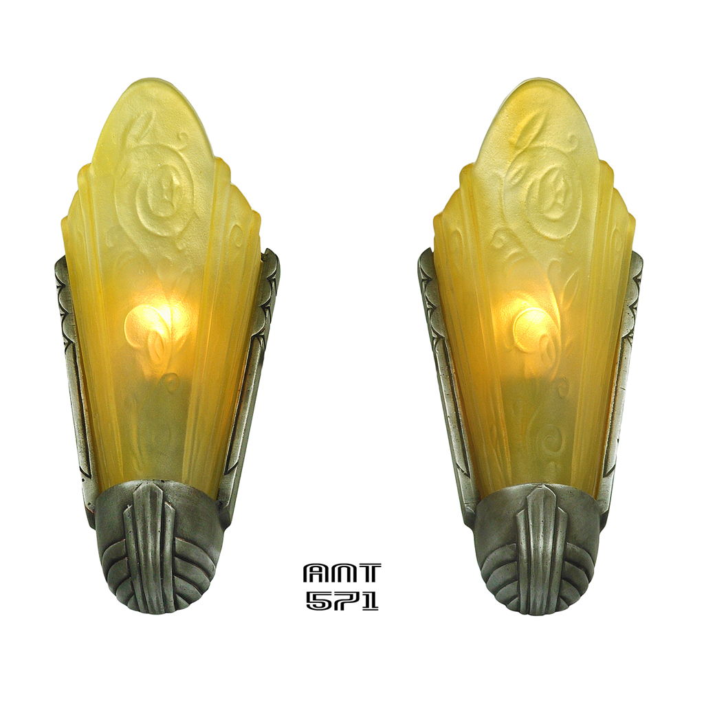 Famous Antique Art Deco Wall Sconces Festooning - Art & Wall Decor ...