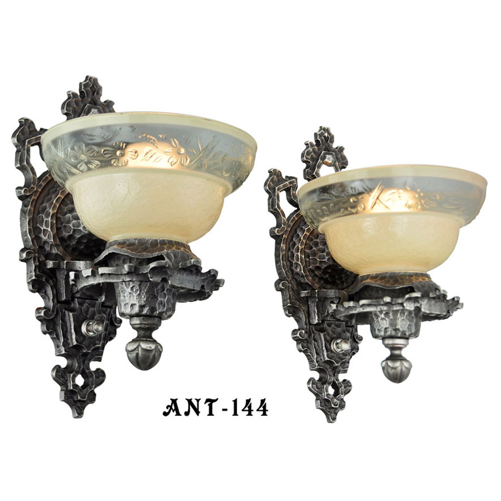 Early Electric Wall Sconces : Pair of Arts & Crafts Early Electric Wall Sconce Lights (ANT-144) For Sale Antiques.com ...