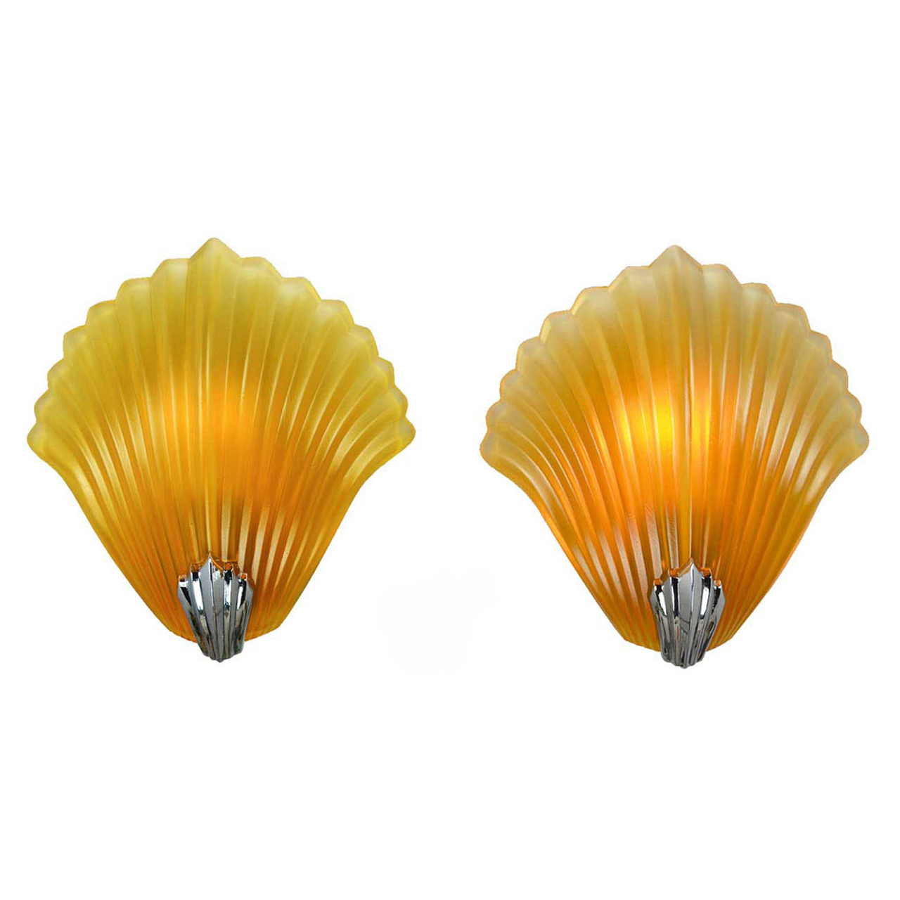 Vintage French Art Deco Shell Motif Wall Sconces Seashell Clamshell ...