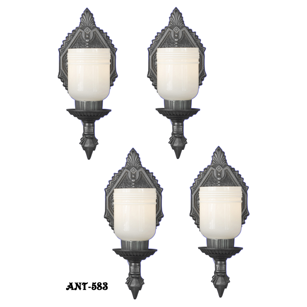 Arts And Crafts Style Antique Wall Sconces Set Of 4