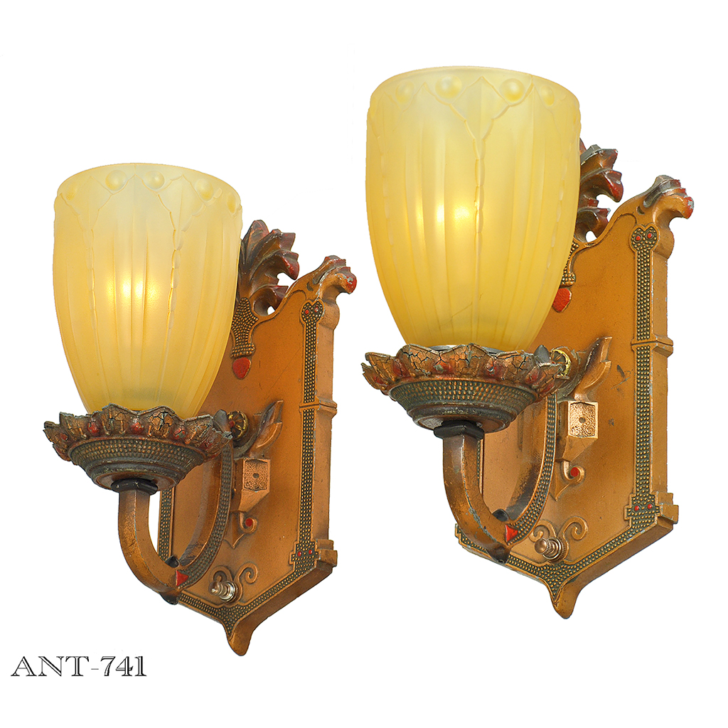 Edwardian Style Pair of Antique Wall Sconces Circa 1910 - 1920 ...