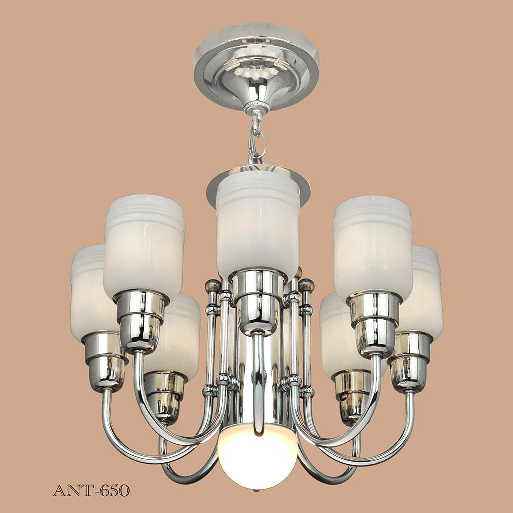 Streamline or midcentury modern chandelier nickel 8 arm ceiling light ant 650 for sale - Chandelier ceiling light ...