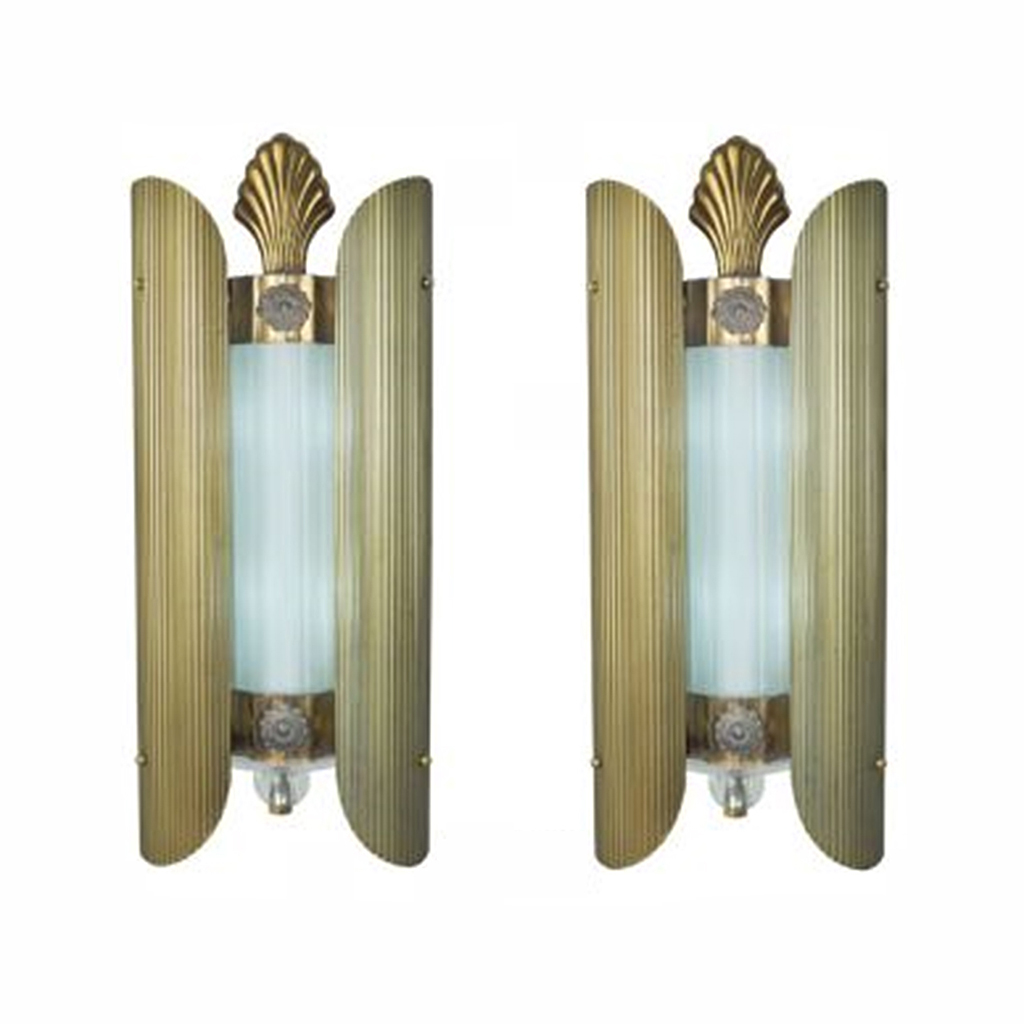 Wall Sconces Theater Lighting : Art Deco Antique Theatre Wall Sconces Loew s Theater Lights 1930s (ANT-441) For Sale Antiques ...
