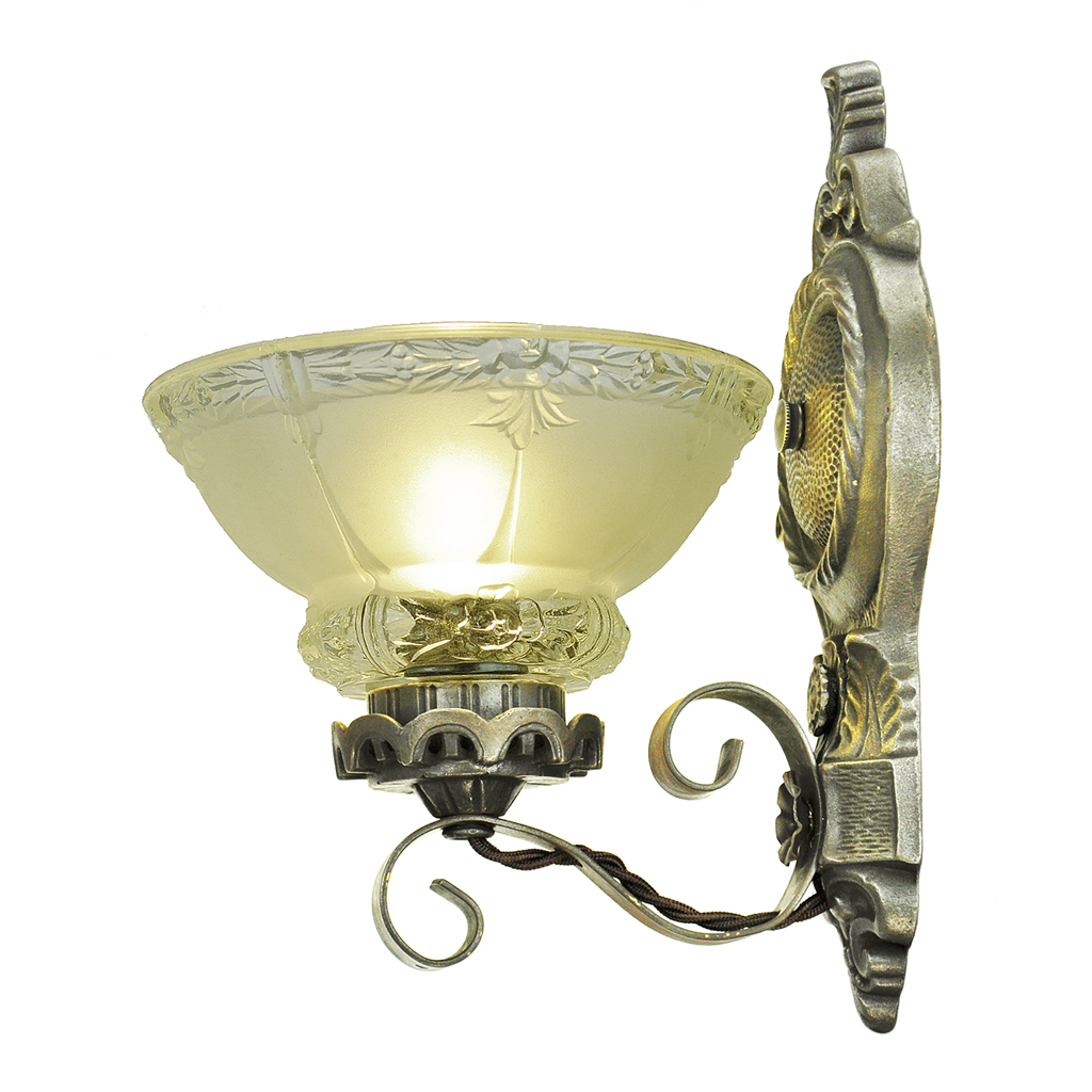 Antique Wall Sconces Edwardian Lighting Fixtures Cup Shade Lights (ANT-785) For Sale Antiques ...