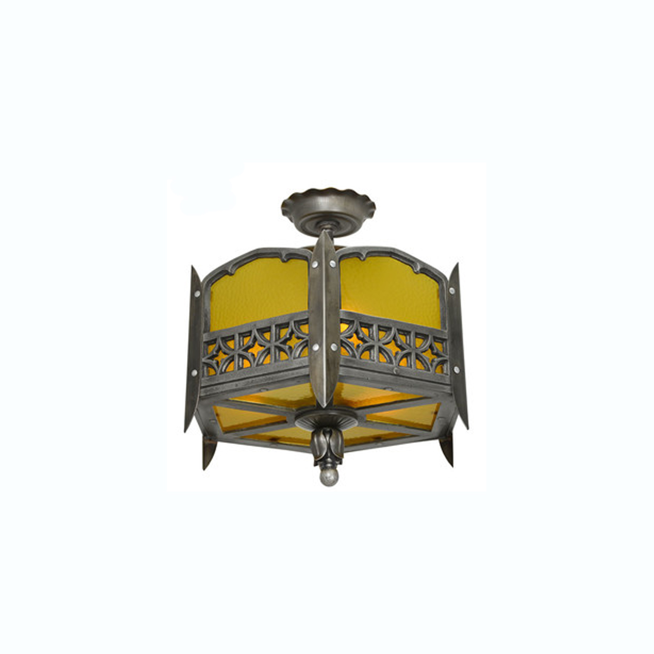 Gothic or arts and crafts style low or short ceiling chandelier gothic or arts and crafts style low or short ceiling chandelier light ant 321 for sale arubaitofo Gallery
