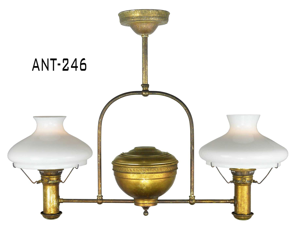 electrified kerosene fluid oil lamp ant 246 for sale. Black Bedroom Furniture Sets. Home Design Ideas