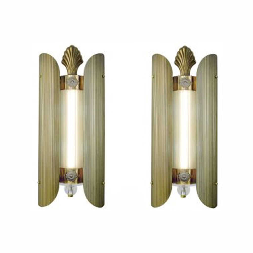 Antique Theater Wall Sconces : Art Deco Antique Theatre Wall Sconces Loew s Theater Lights 1930s (ANT-441) For Sale Antiques ...