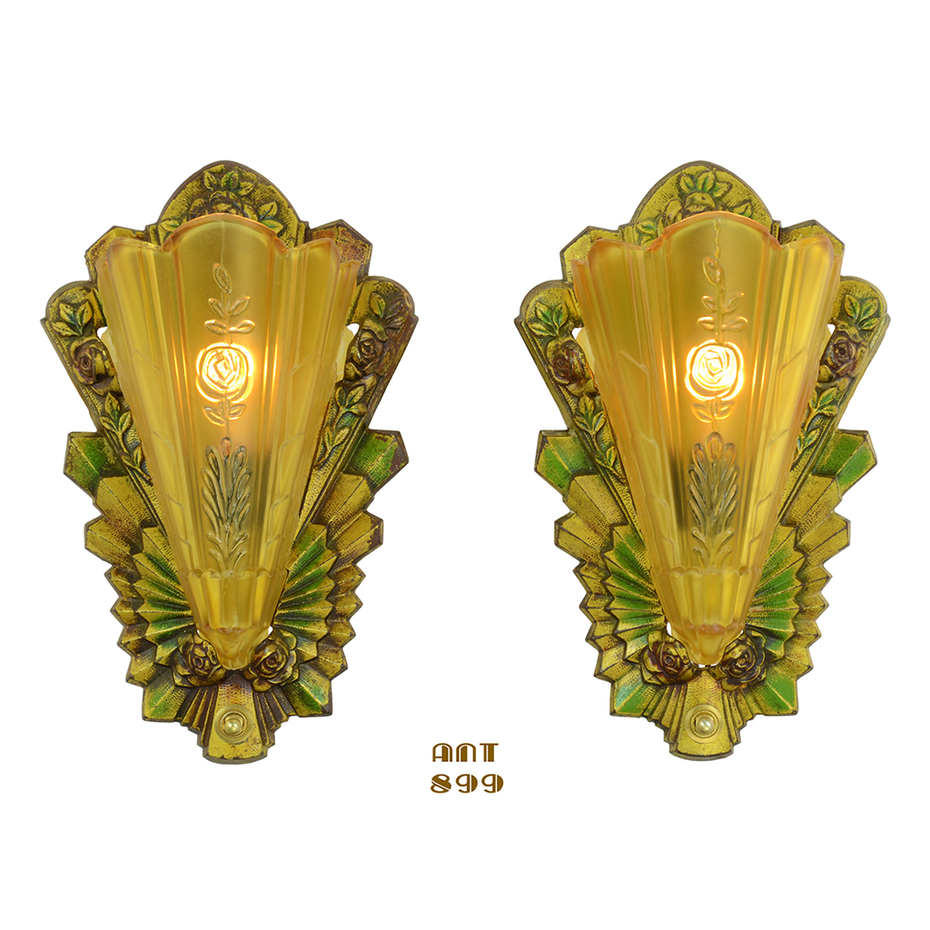 Funky Wall Sconces Art Deco Ornament - Wall Art Collections ...