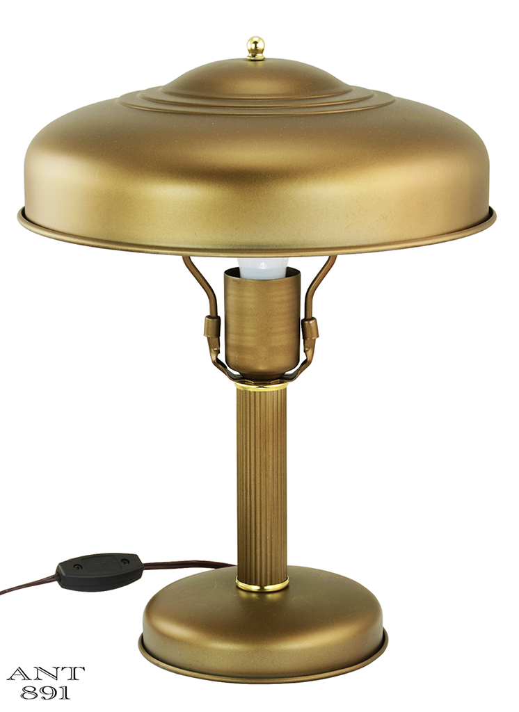 Art deco streamline table lamp metal shade rewired antique desk art deco streamline table lamp metal shade rewired antique desk light ant 891 for sale greentooth Choice Image