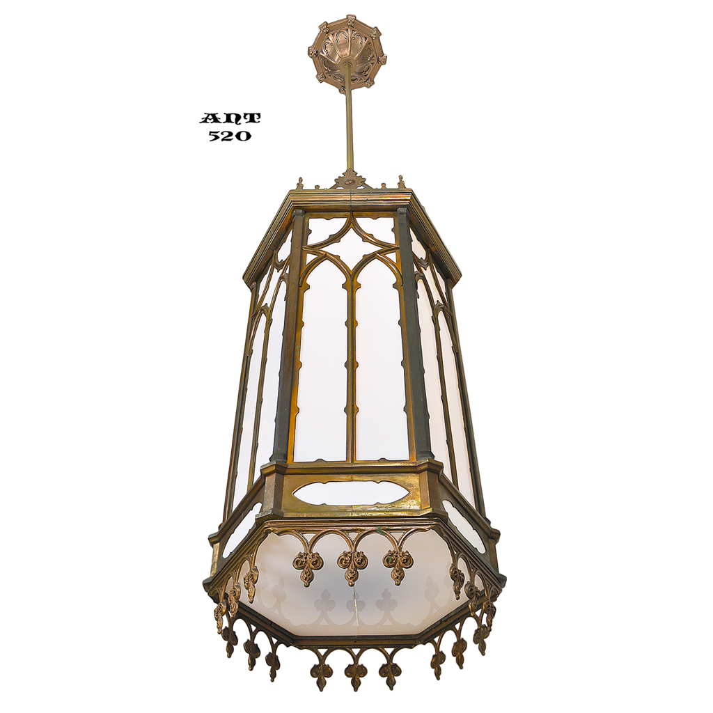Gothic victorian style large antique pendants ceiling for Antique pendant light fixtures