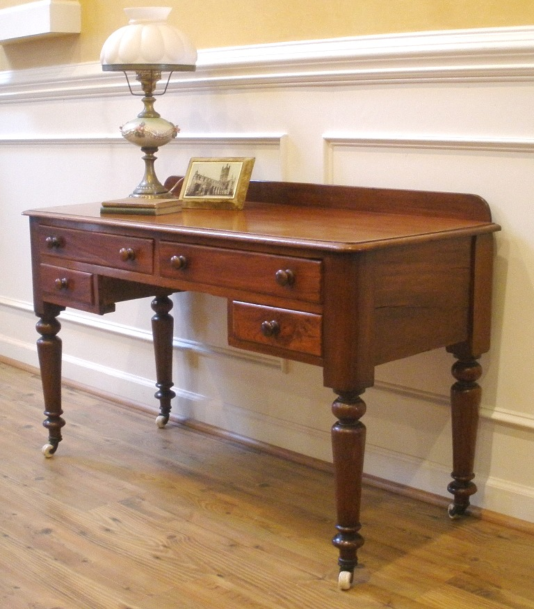 Antique Victorian English Mahogany Desk Sofa Table  : ori556911993232211138066GY8182 from www.antiques.com size 768 x 875 jpeg 194kB