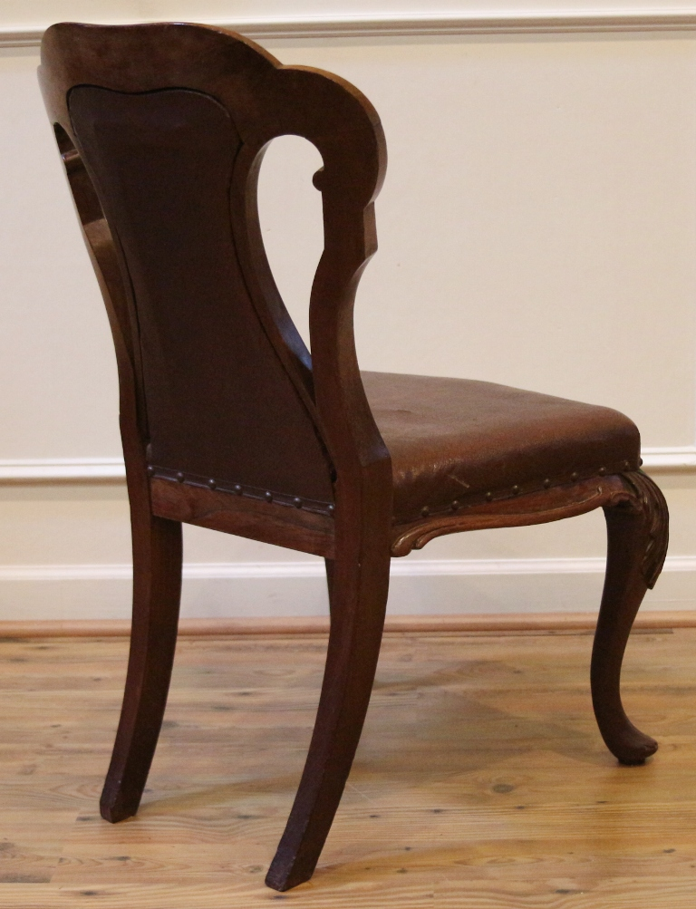Antique English Victorian Carved Rosewood Dining Parlor