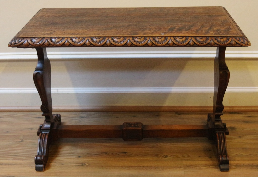 Antique Carved Oak Side Table English For Antiques Com Classifieds