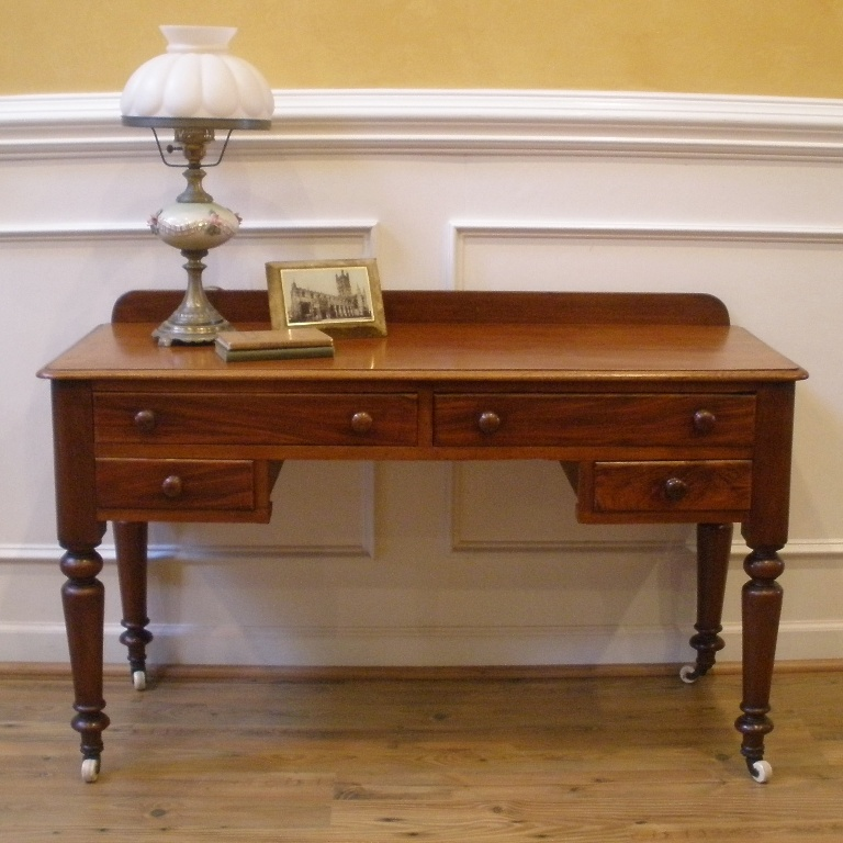 Antique victorian english mahogany desk sofa table for Sofa table antique