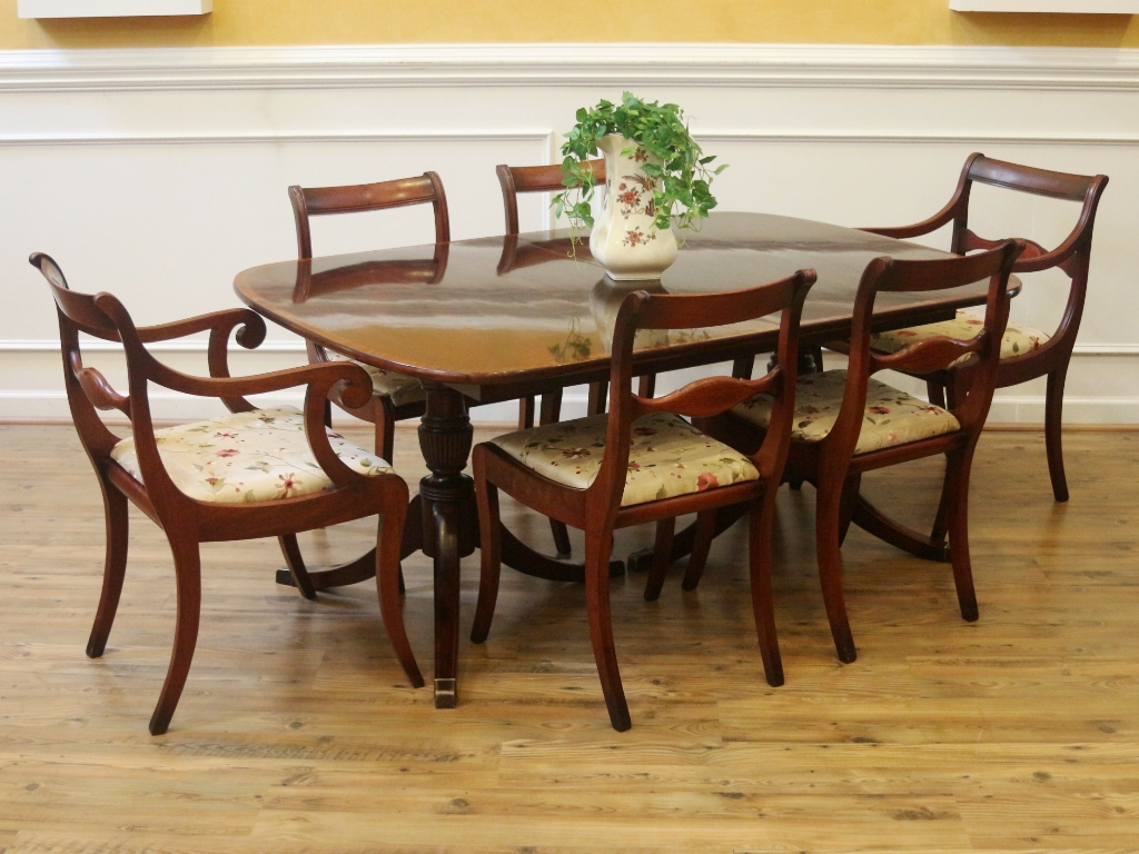 Fantastic Vintage Dining Chairs Set Of 6 Regency Duncan Phyfe Style Home Interior And Landscaping Ologienasavecom