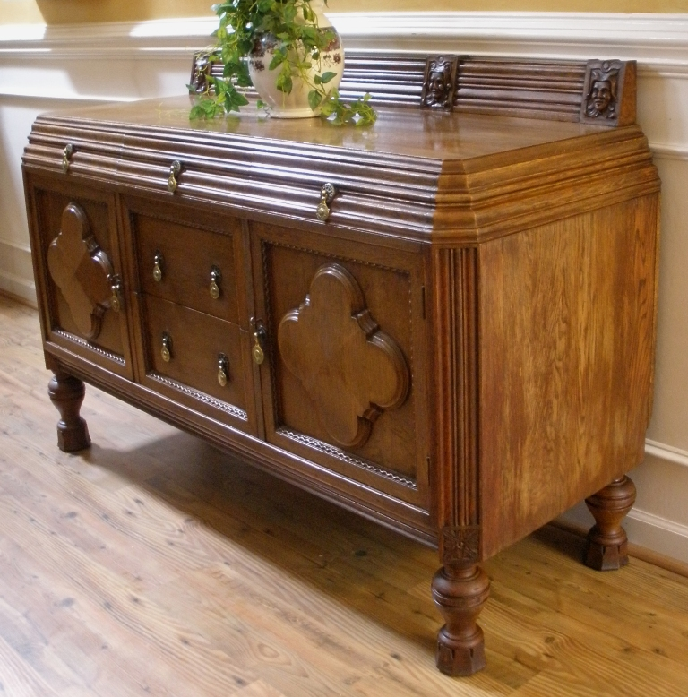 antique english solid oak carved sideboard server buffet for sale classifieds. Black Bedroom Furniture Sets. Home Design Ideas