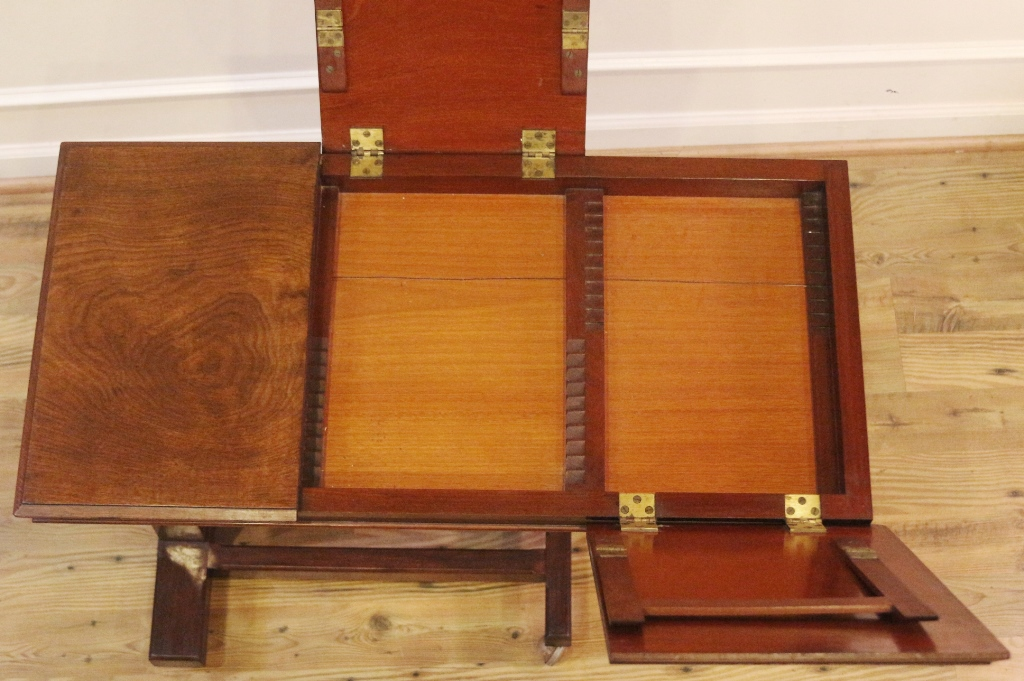 Antique Victorian Book Stand Reading Bed Table, Adjustable Height, Walnut,  English C.1880.   For Sale