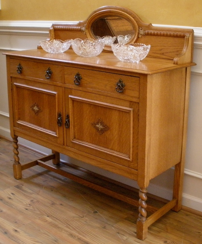antique oak buffet sideboard server 1