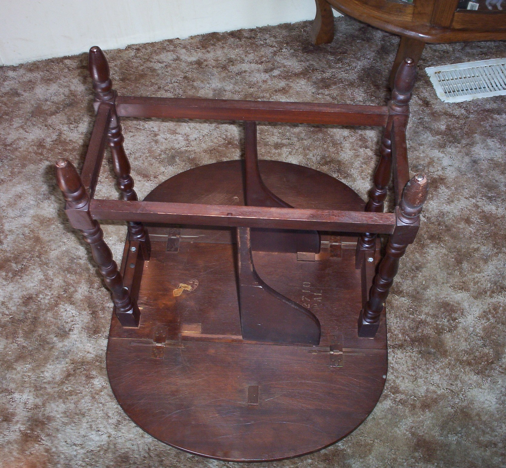 Antique Drop Leaf Sofa Or End Table For Sale Antiques