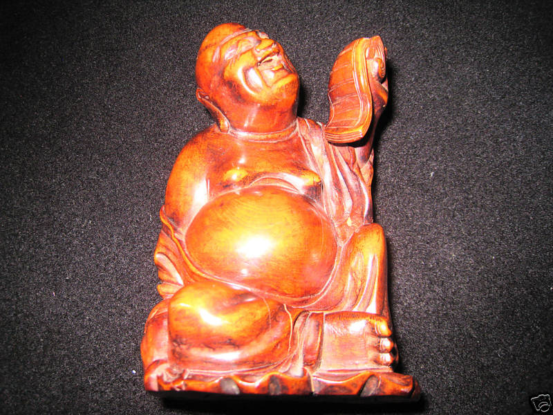 Antique chinese boxwood carved figure th c for sale