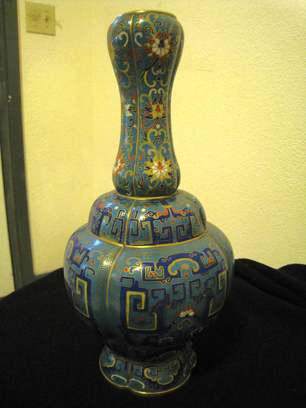 Antique Chinese Cloisonne Vase 19th Century For Sale Antiques