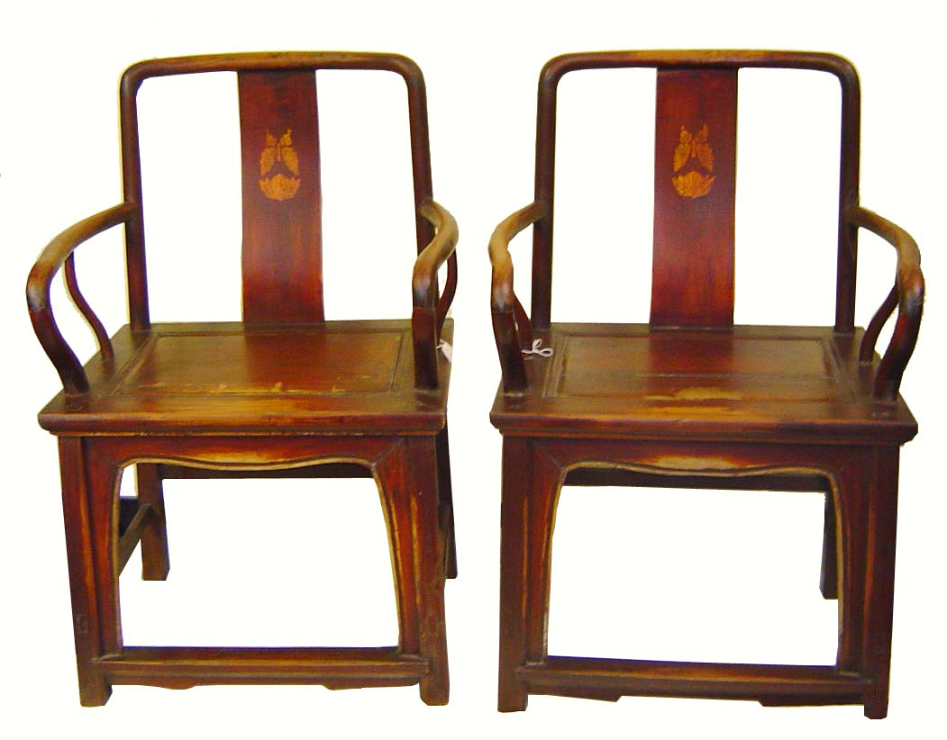 Authentic antique chinese arm chairs pair for sale for Oriental furniture for sale