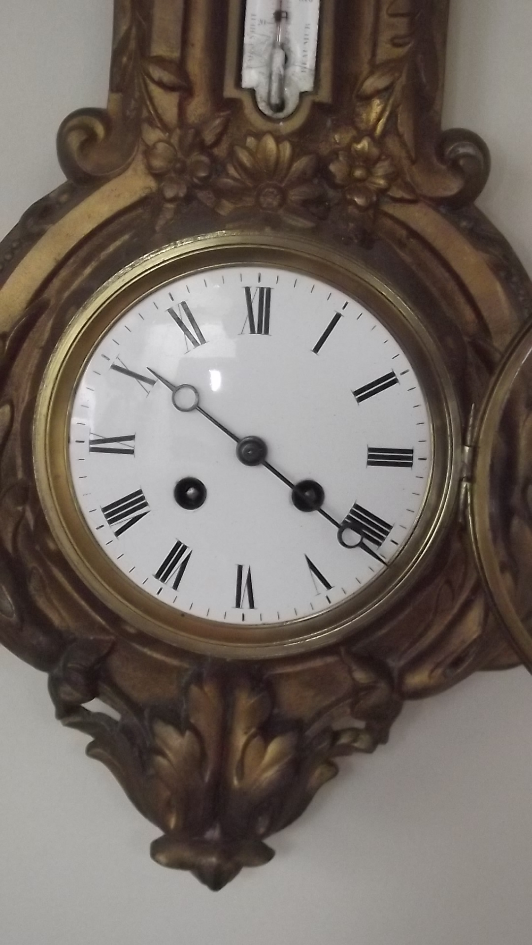 French Cartel Clock Amp Barometer And Thermometer Gilted