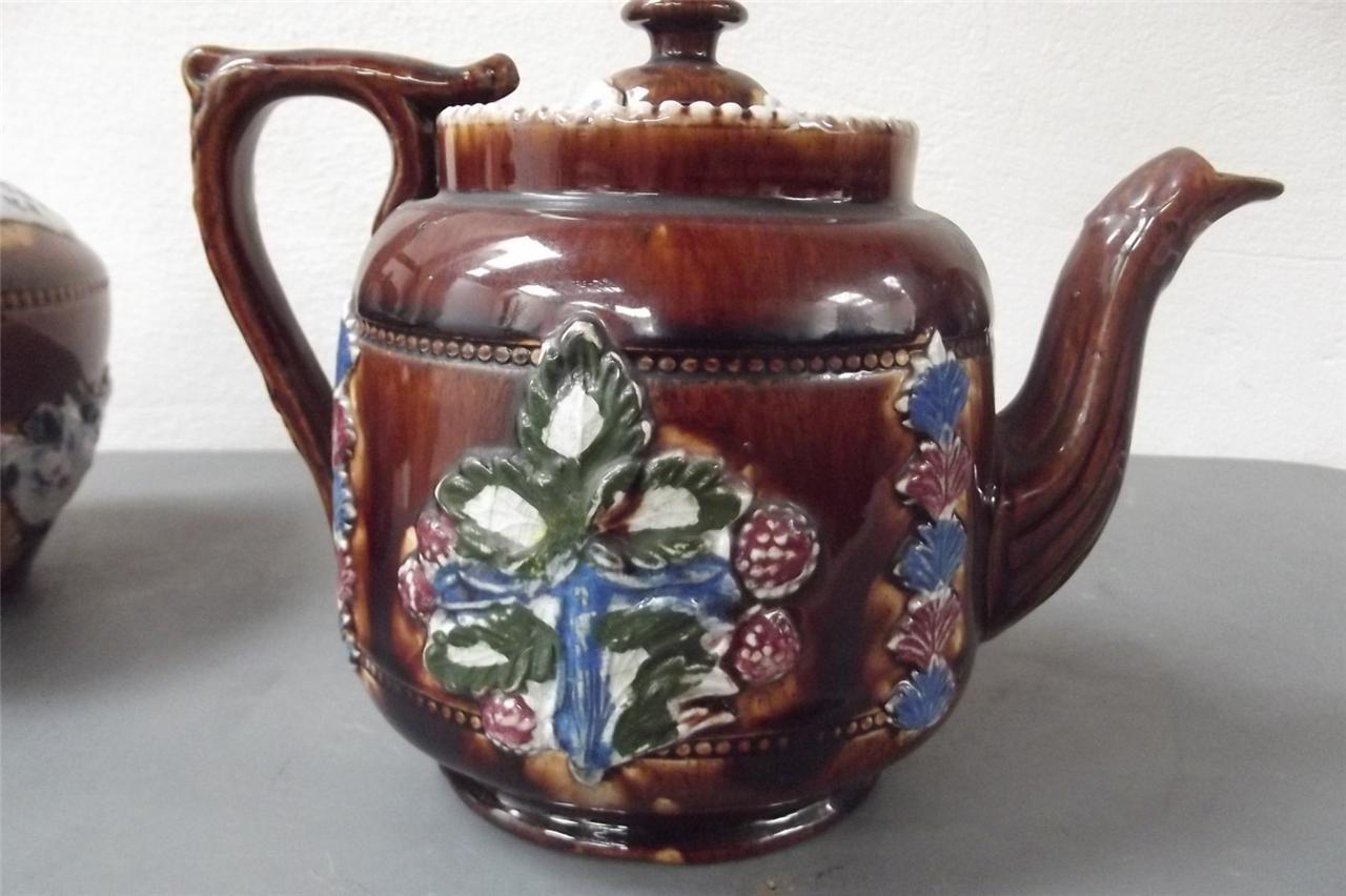 Measham Set Teapot Kettle Circa Mid 19th Century B6 For