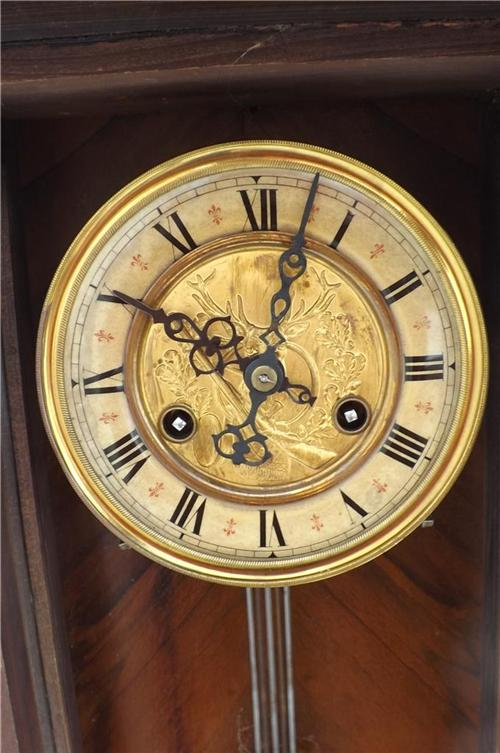 Wall clock mahogany cased 8 day movement quality at it's ...