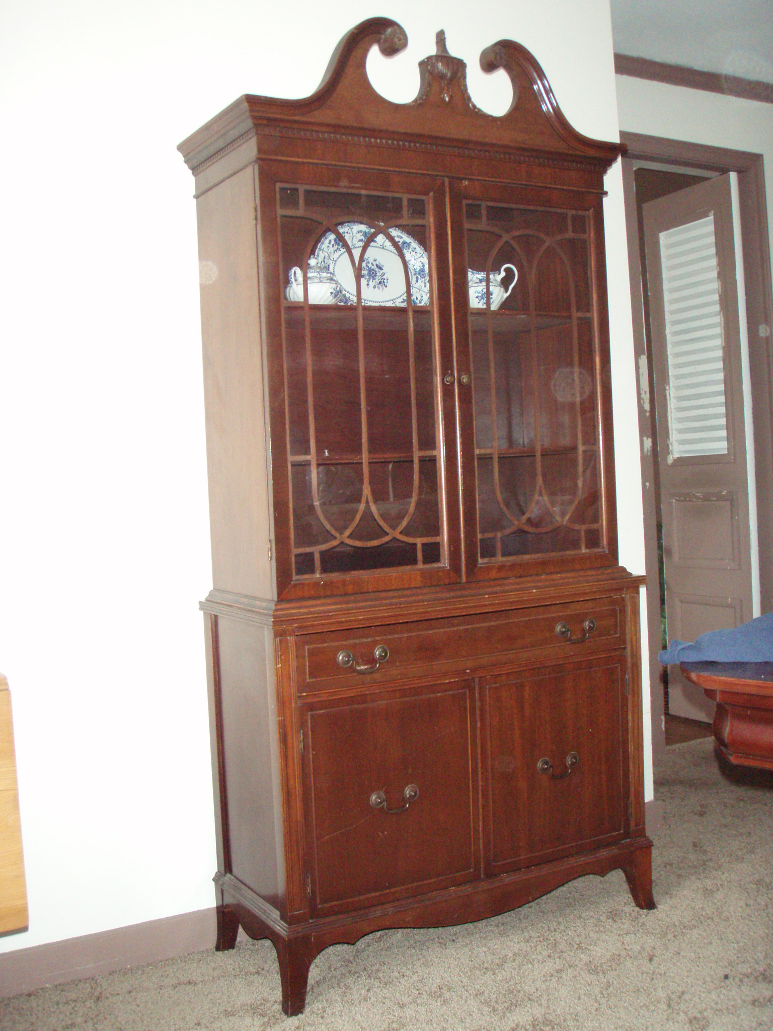Vintage mahogany china cabinet for sale antiquescom for Used antique furniture