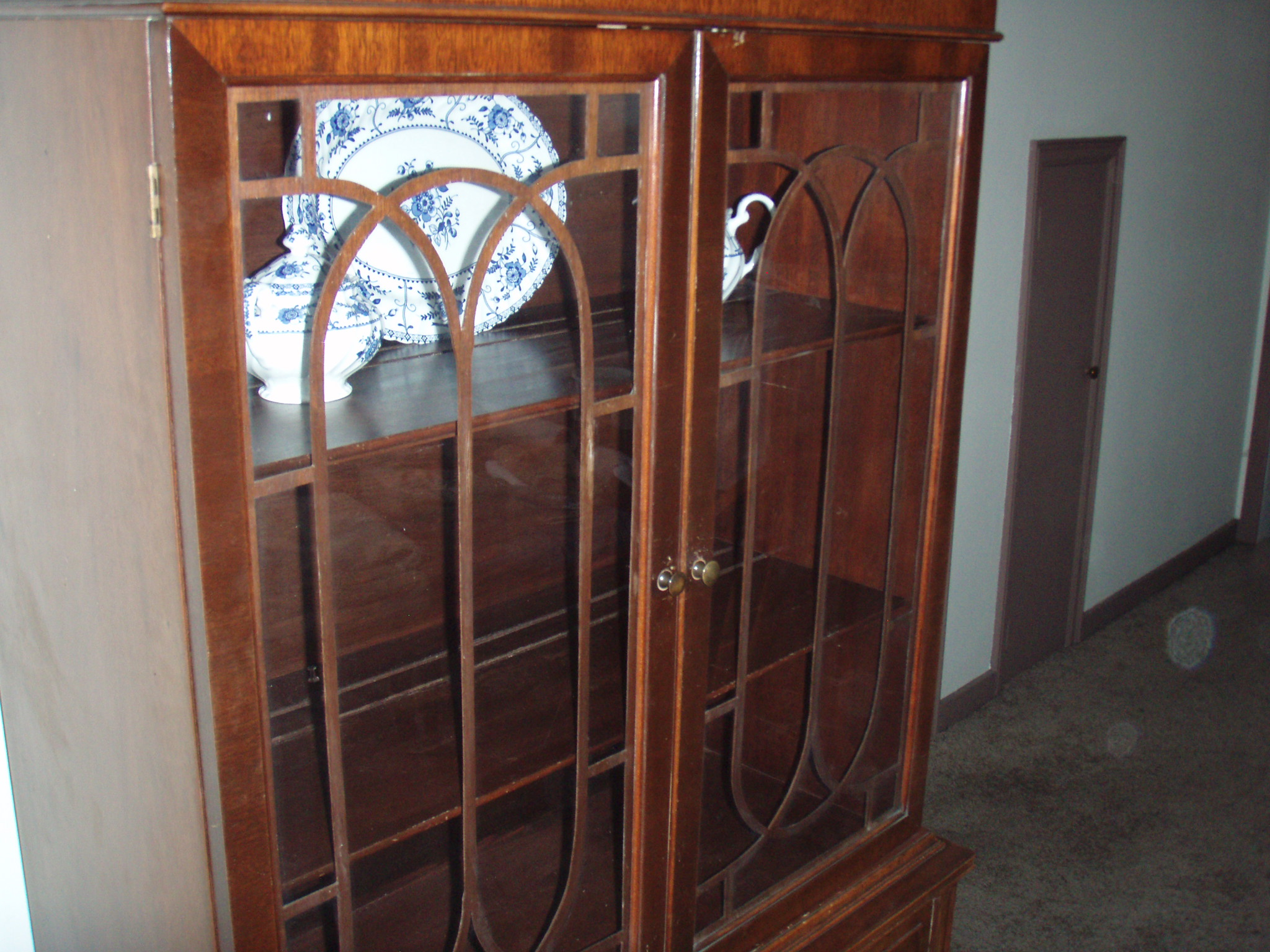 Vintage Mahogany China Cabinet For Sale Antiques Com