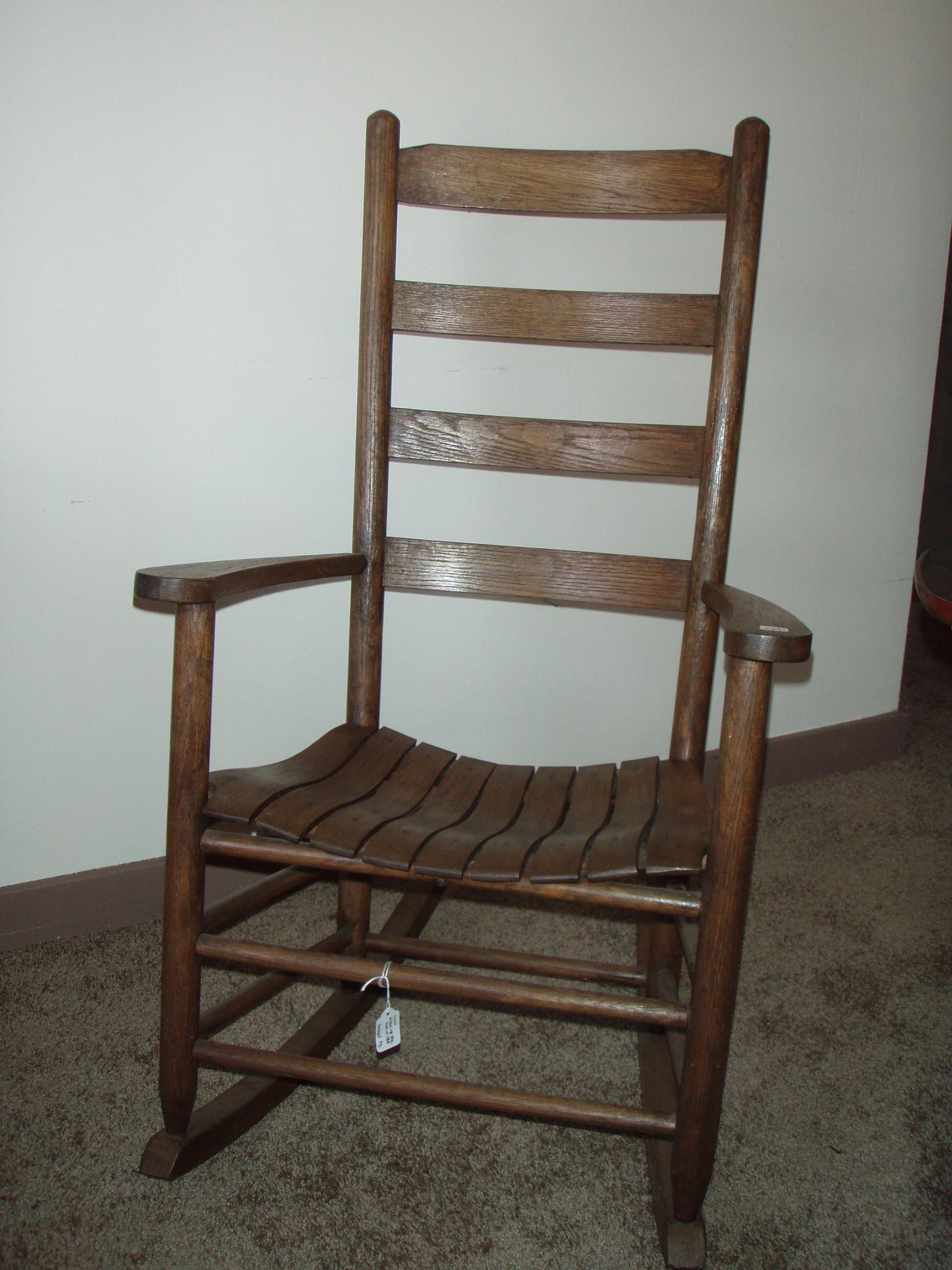 antique slat back rocking chair for sale. Black Bedroom Furniture Sets. Home Design Ideas