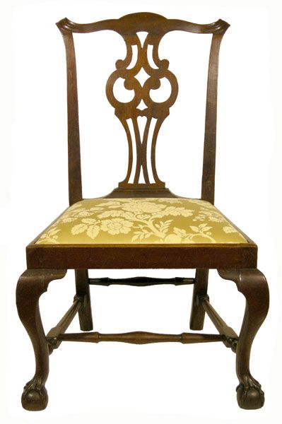 Superb 18th C American Chippendale Mahogany Boston Or Salem Mass Side Chair C1785 For Sale