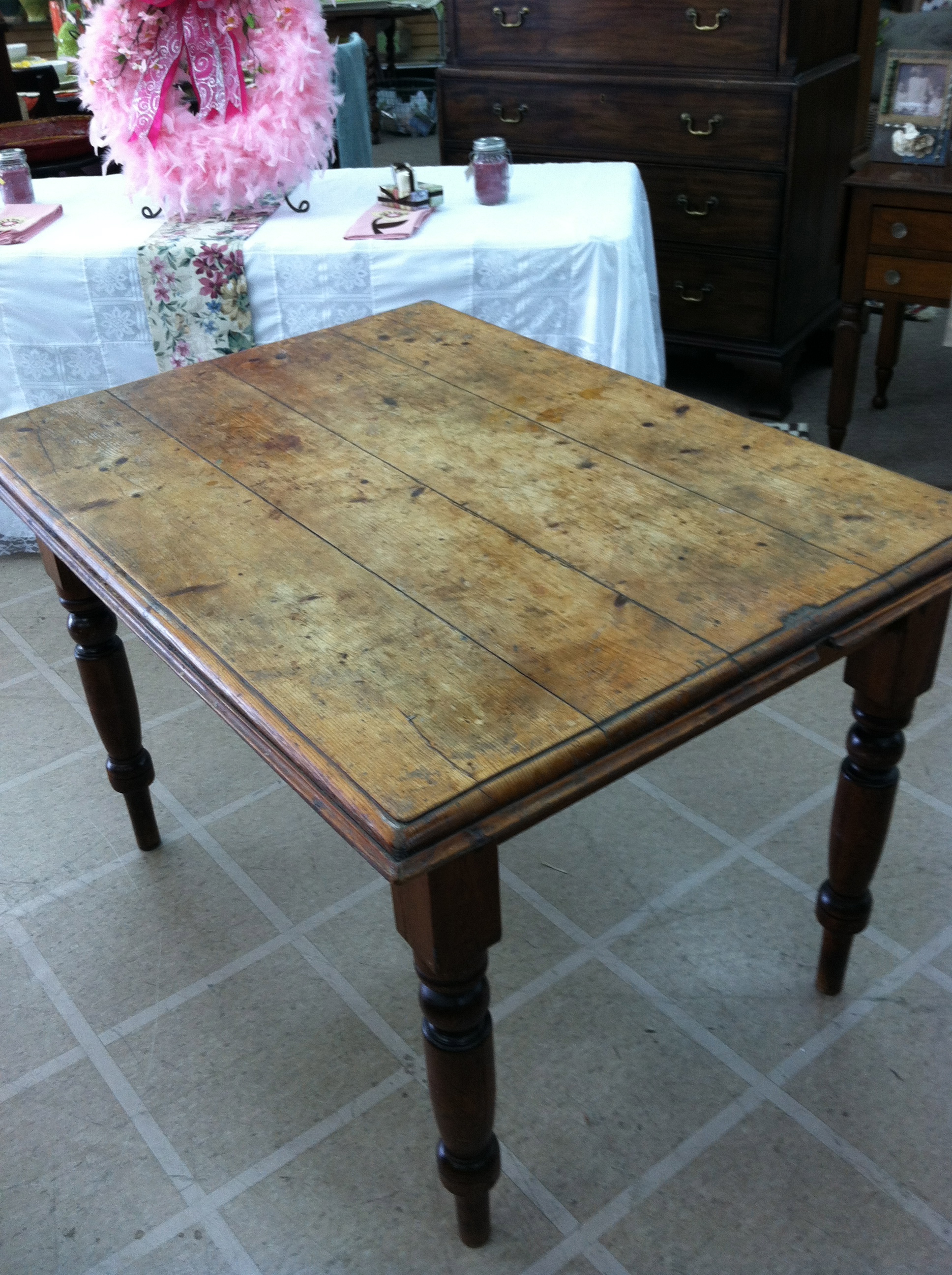 Antique rustic dining table - Offered Here Is A Gorgeous Antique Primitive Rustic Country Pine Harvest Table Circa 19th Century This Piece Is In Excellent Shabby Chic Condition