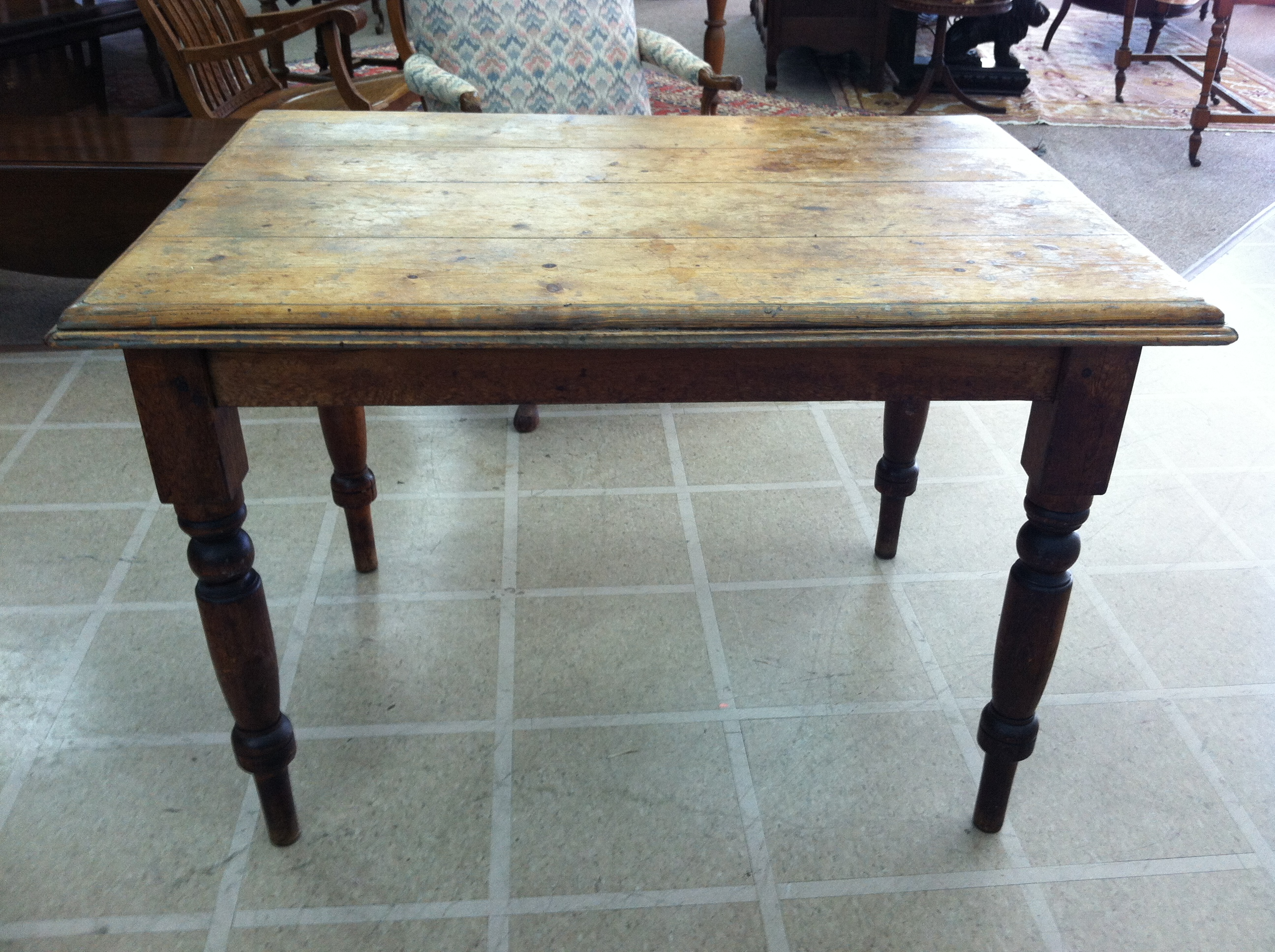Gorgeous Antique Rustic Primitive Country Pine Harvest/Dining ...